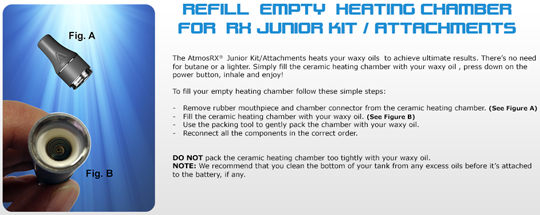 AtmosRx Jr Heating Chamber Instructions