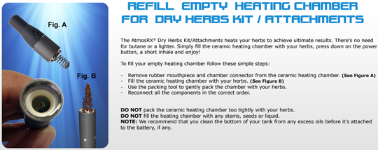 AtmosRx Heating Chamber Instructions