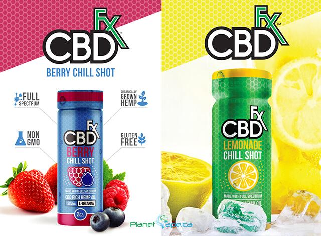 CBDfx CBD Lemonade and Berry Chill Shot