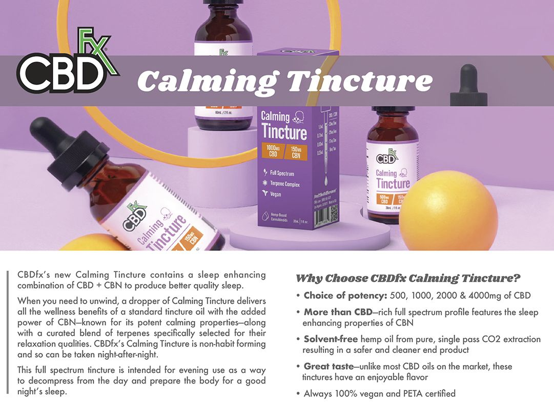 CBDfx Calming CBD + CBN MCT Oil Tincture