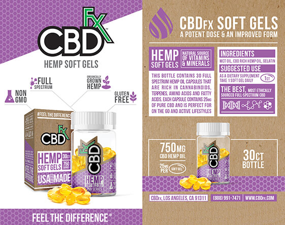 CBDfx CBD Oil Capsules 60ct