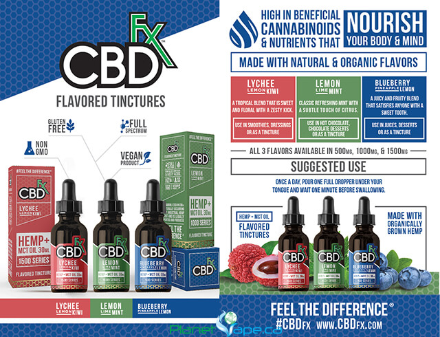 CBDfx CBD Hemp + MCT Lemon Lime Mint CBD Tincture Oil