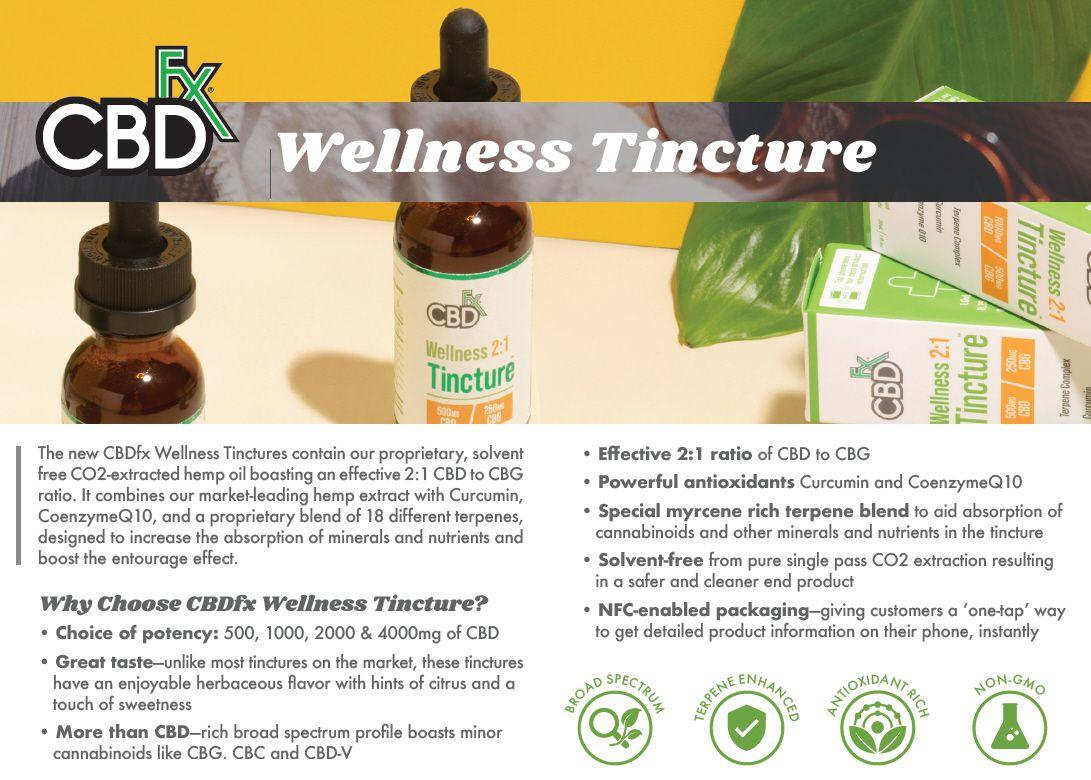 CBDfx Wellness CBD + CBG MCT Oil Tincture 2:1l