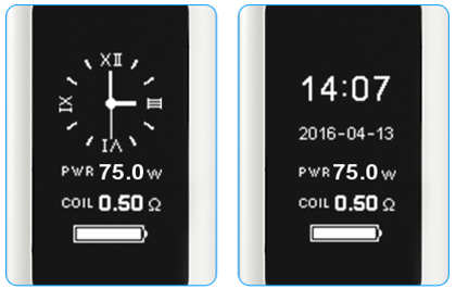 Joyetech eVic Vtwo Mini Clocks
