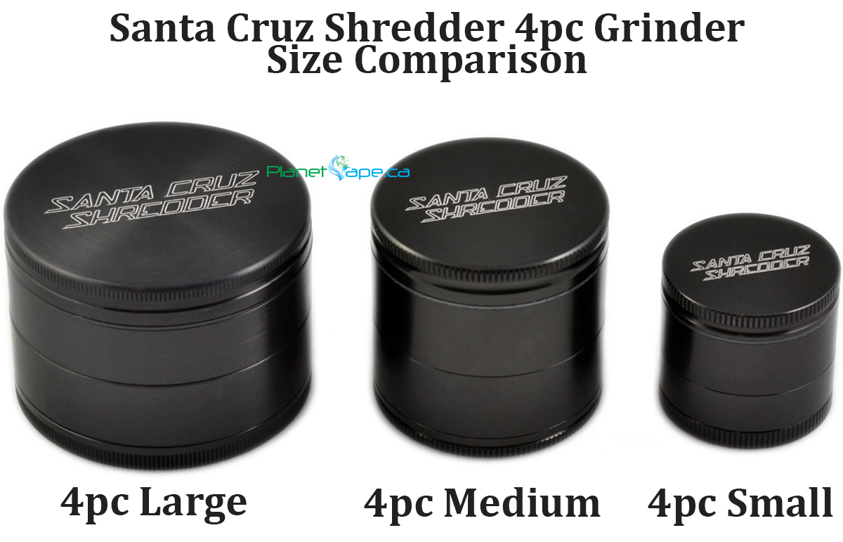 Santa Cruz Shredder Grinder Size Comparison