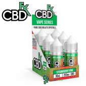 CBDfx CBD Vape Juice Strawberry Kiwi Refill Box