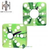 Haze Square Silicone Sleeve Multicolor Green