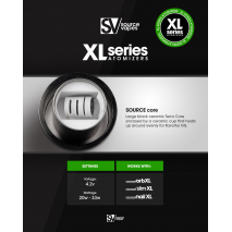 XL Series SOURCE core All-Ceramic Coil-less Atomizer