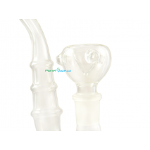 Black Leaf 8 Arm Slitted Tree Perc Bubbler Bowl Closeup