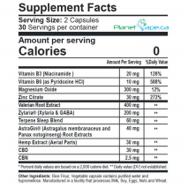 CBDfx CBD + CBN Night PM Capsules 900mg Supplement Facts