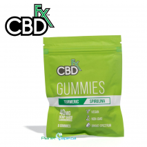 CBDfx CBD Gummies Turmeric and Spirulina 8ct Pouch