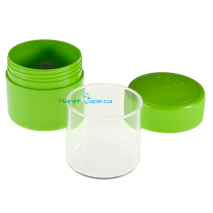 JyARz Satchmo Portable Glass Lined Jar Open