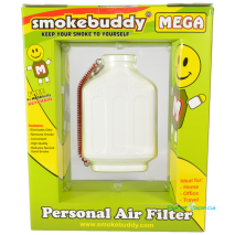 SmokeBuddy Mega White Back