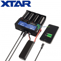 XTAR Dragon VP4 Plus Battery Charger Devices Connected