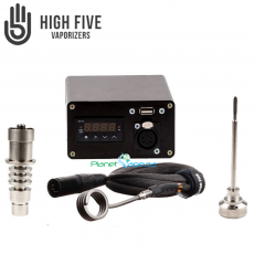 High5 LED#1 Black 20mm Coil, Titanium Nail with Carb Cap