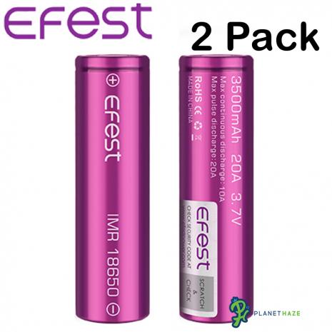 Efest IMR 18650 3500mAh 20A Batteries 2Pack