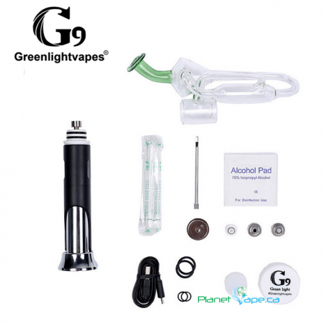 G9 TC Port Portable Dab Rig Kit Contents